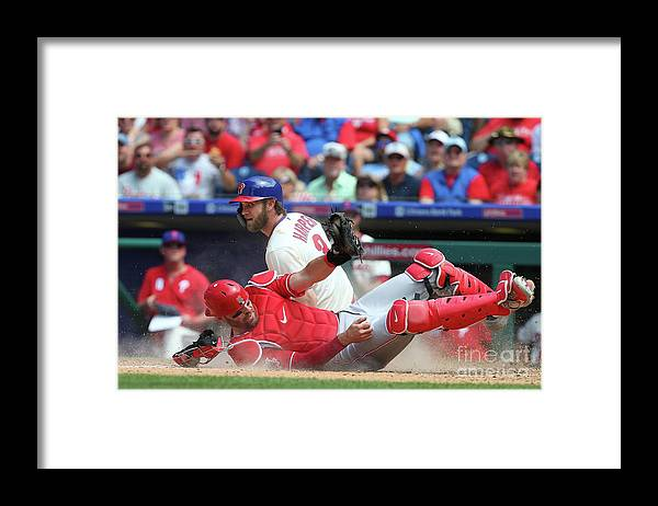 Baseball Catcher Framed Print featuring the photograph Bryce Harper by Rich Schultz