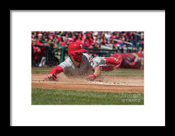 People Framed Print featuring the photograph Bryce Harper by Scott Taetsch