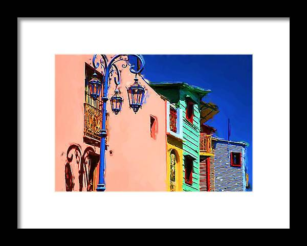Buenos Aires Framed Print featuring the mixed media Buenos Aires by Asbjorn Lonvig