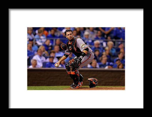 Buster Posey Framed Print featuring the photograph Buster Posey by Elsa