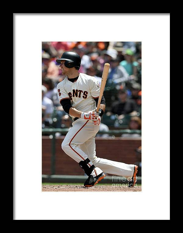 San Francisco Framed Print featuring the photograph Buster Posey by Thearon W. Henderson