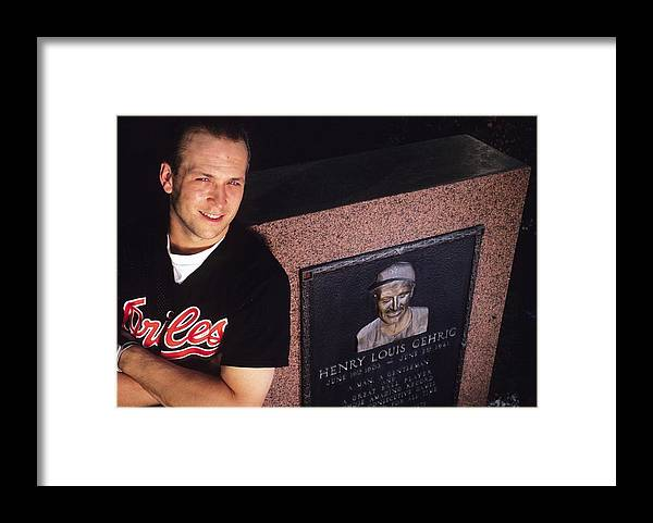 People Framed Print featuring the photograph Cal Ripken by Ronald C. Modra/sports Imagery