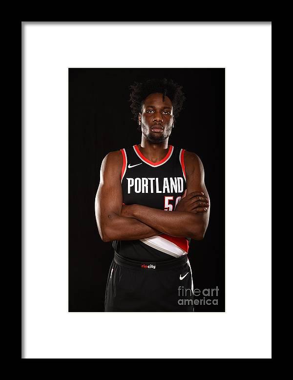 Nba Pro Basketball Framed Print featuring the photograph Caleb Swanigan by Brian Babineau
