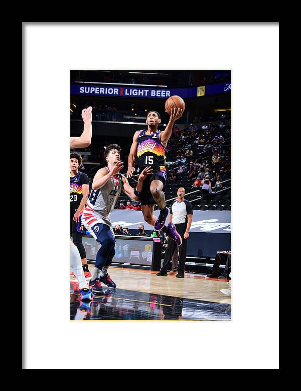 Nba Pro Basketball Framed Print featuring the photograph Cameron Payne by Michael Gonzales