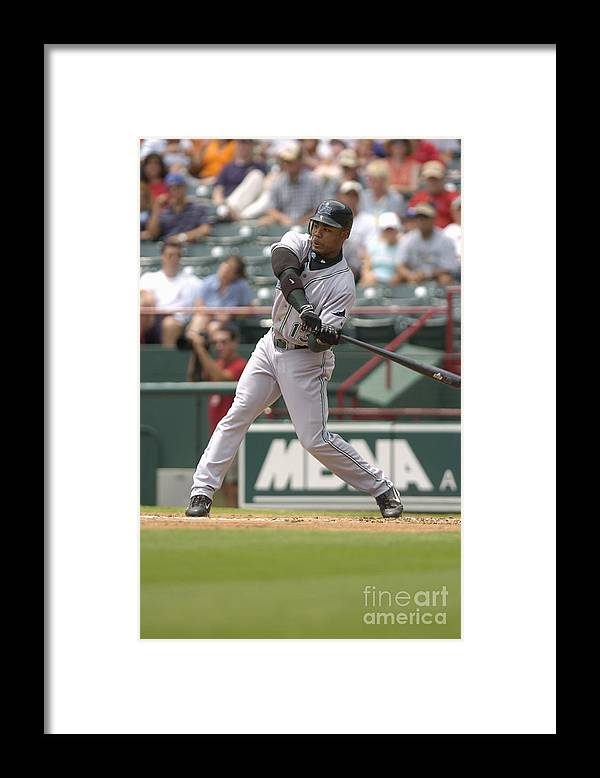 American League Baseball Framed Print featuring the photograph Carl Ray by John Williamson