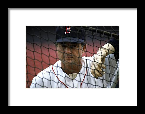 1980-1989 Framed Print featuring the photograph Carl Yastrzemski by Ronald C. Modra/sports Imagery