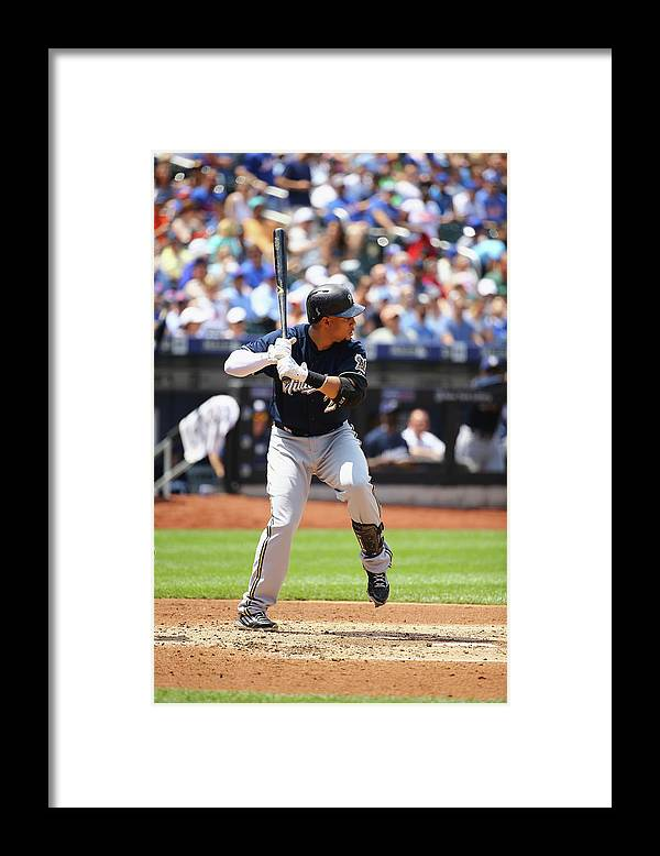 People Framed Print featuring the photograph Carlos Gomez by Al Bello