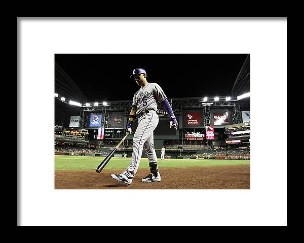 Home Base Framed Print featuring the photograph Carlos Gonzalez by Christian Petersen