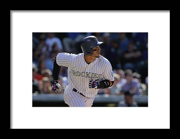 Three Quarter Length Framed Print featuring the photograph Carlos Gonzalez by Doug Pensinger