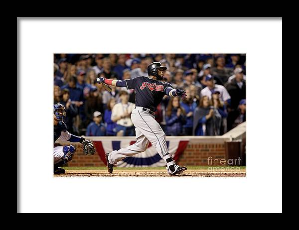 Second Inning Framed Print featuring the photograph Carlos Santana by Ezra Shaw