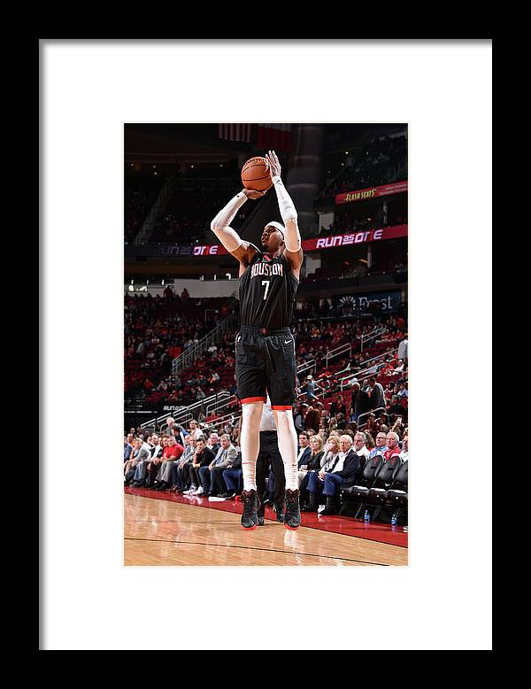 Nba Pro Basketball Framed Print featuring the photograph Carmelo Anthony by Bill Baptist