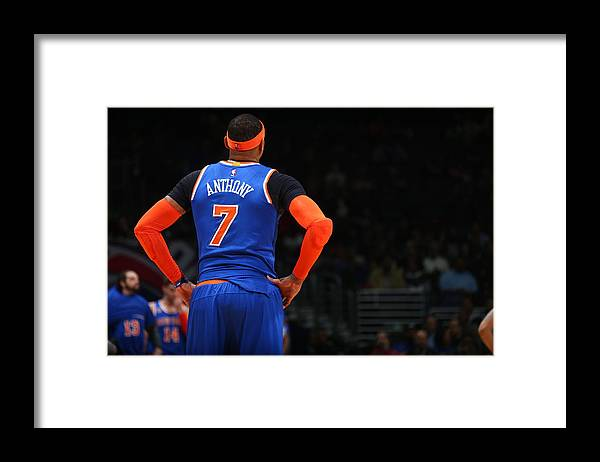 Nba Pro Basketball Framed Print featuring the photograph Carmelo Anthony by Ned Dishman