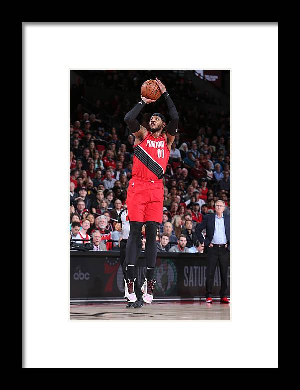 Nba Pro Basketball Framed Print featuring the photograph Carmelo Anthony by Sam Forencich