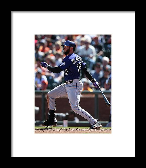 San Francisco Framed Print featuring the photograph Charlie Blackmon by Brad Mangin