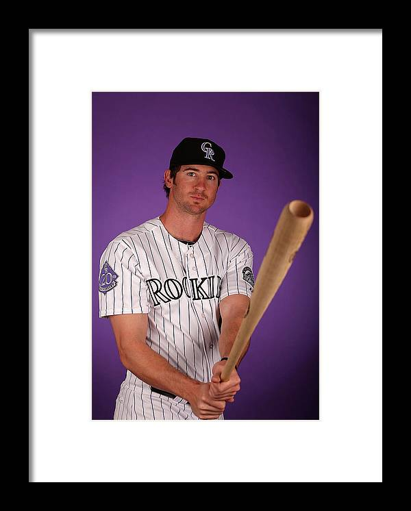 Media Day Framed Print featuring the photograph Charlie Blackmon by Christian Petersen