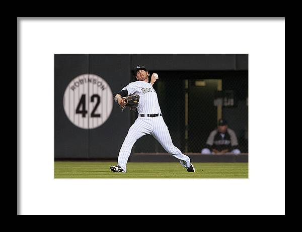 National League Baseball Framed Print featuring the photograph Charlie Blackmon by Dustin Bradford