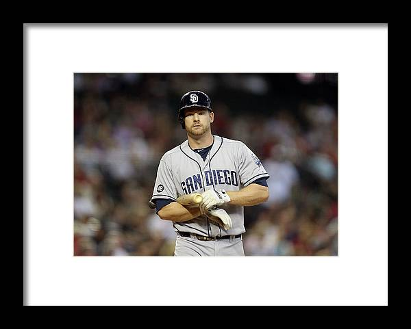 National League Baseball Framed Print featuring the photograph Chase Headley by Christian Petersen