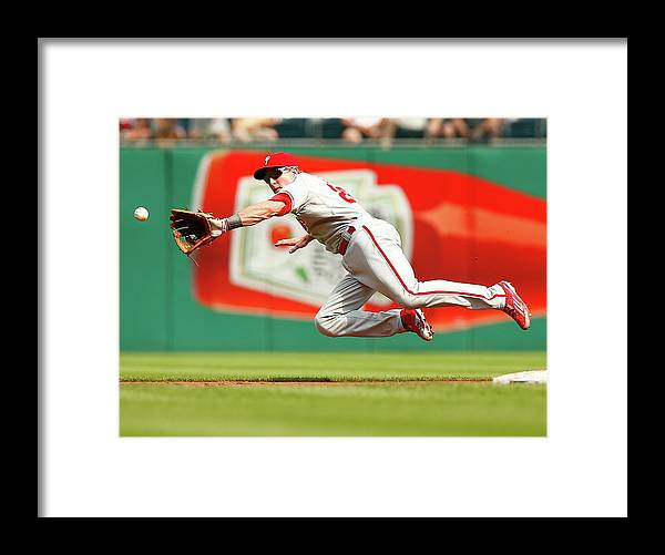 Second Inning Framed Print featuring the photograph Chase Utley by Jared Wickerham