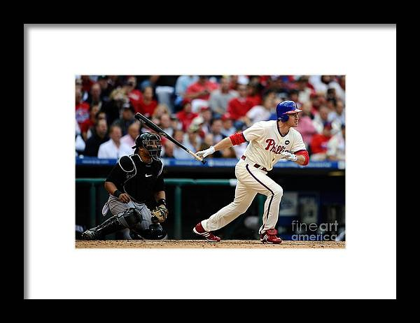 Playoffs Framed Print featuring the photograph Chase Utley by Jeff Zelevansky
