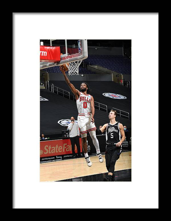 Coby White Framed Print featuring the photograph Chicago Bulls v LA Clippers by Adam Pantozzi