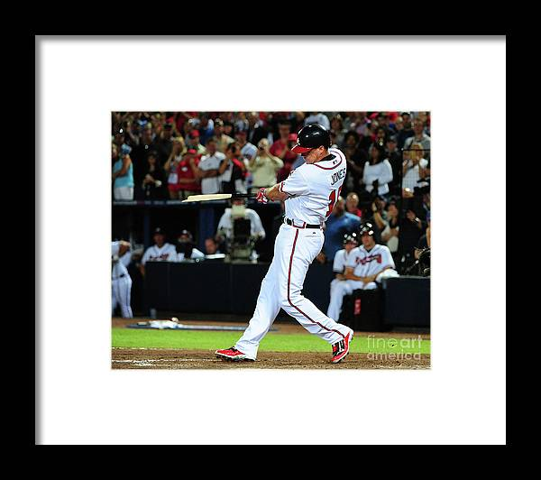 Atlanta Framed Print featuring the photograph Chipper Jones by Scott Cunningham