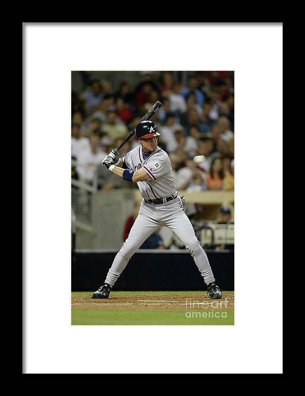California Framed Print featuring the photograph Chipper Jones by Streeter Lecka