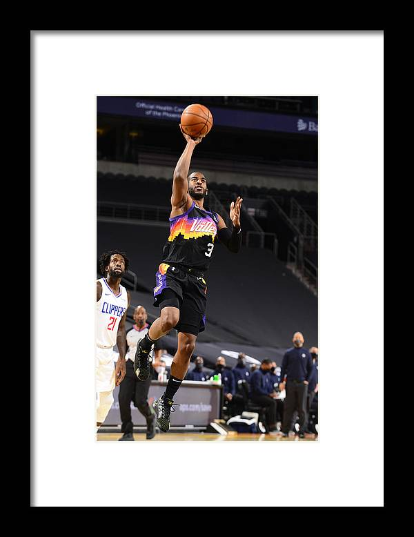 Nba Pro Basketball Framed Print featuring the photograph Chris Paul by Barry Gossage