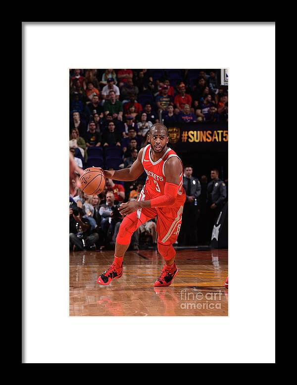 Nba Pro Basketball Framed Print featuring the photograph Chris Paul by Michael Gonzales