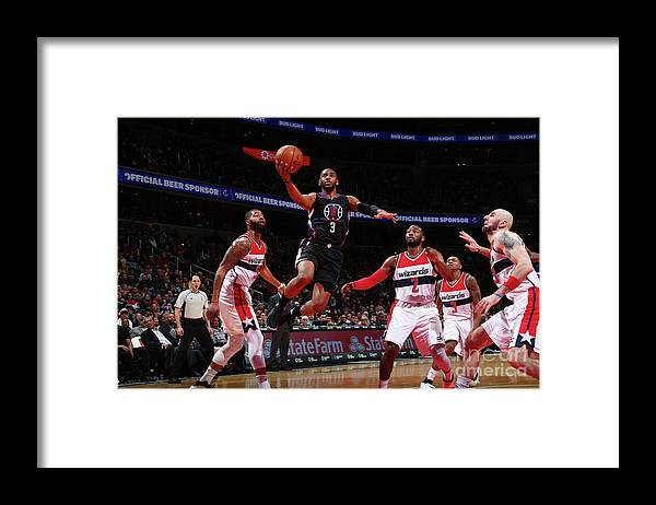 Nba Pro Basketball Framed Print featuring the photograph Chris Paul by Ned Dishman