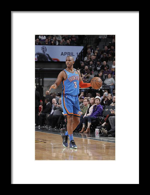 Nba Pro Basketball Framed Print featuring the photograph Chris Paul by Rocky Widner