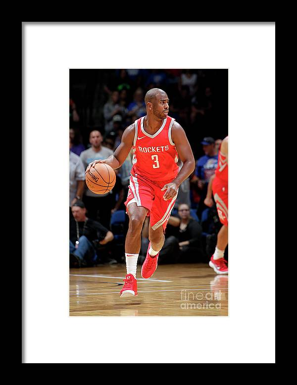 Nba Pro Basketball Framed Print featuring the photograph Chris Paul by Shane Bevel