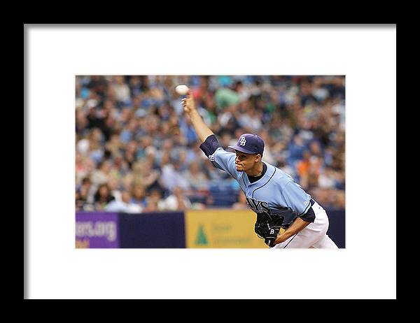 American League Baseball Framed Print featuring the photograph Chris Ray by Brian Blanco