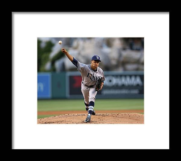 American League Baseball Framed Print featuring the photograph Chris Ray by Stephen Dunn
