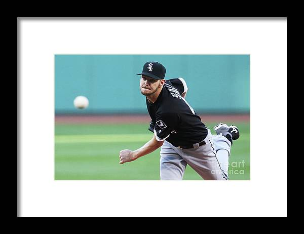 People Framed Print featuring the photograph Chris Sale by Adam Glanzman
