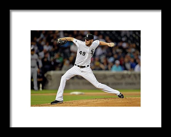 Second Inning Framed Print featuring the photograph Chris Sale by Brian Kersey