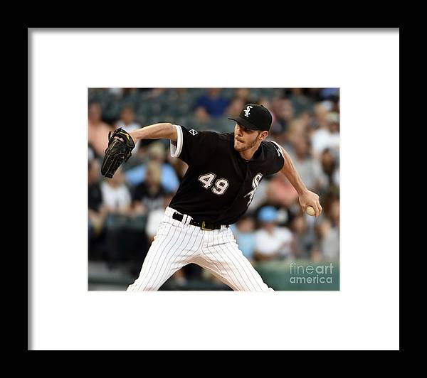 Three Quarter Length Framed Print featuring the photograph Chris Sale by David Banks
