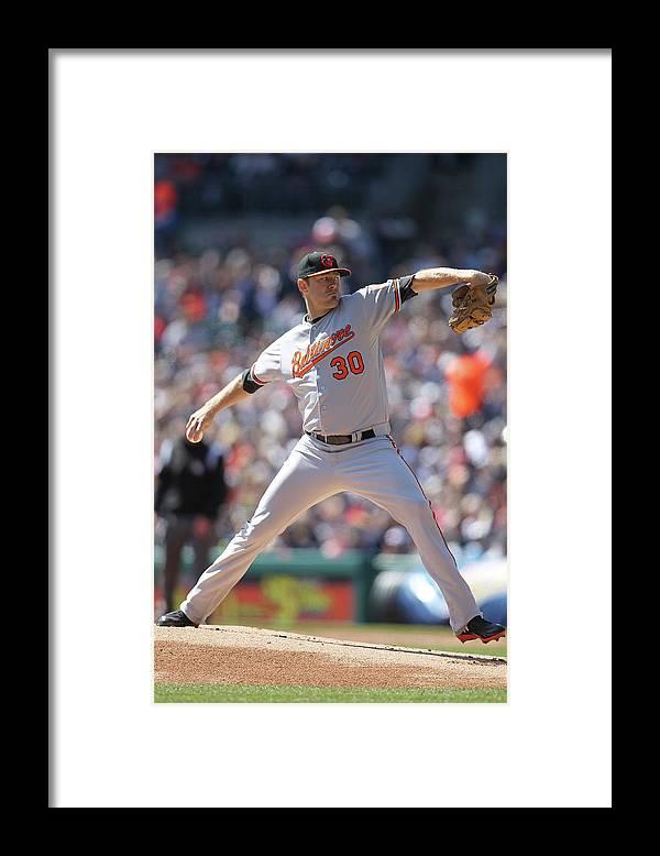 American League Baseball Framed Print featuring the photograph Chris Tillman by John Grieshop