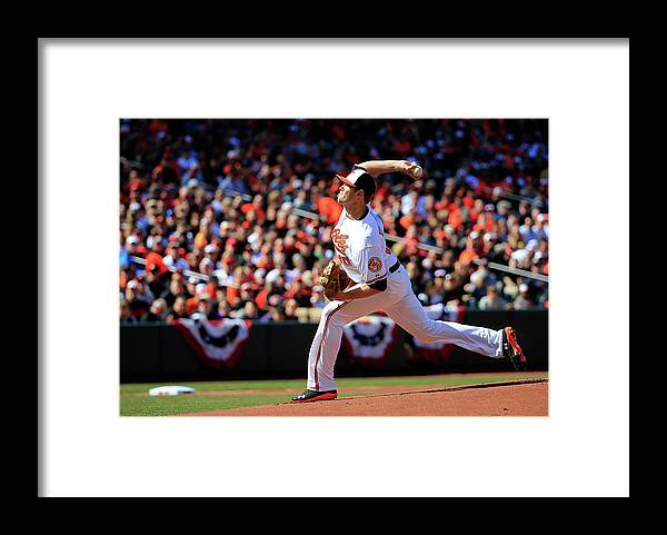 American League Baseball Framed Print featuring the photograph Chris Tillman by Rob Carr