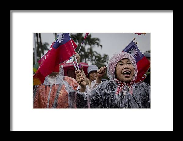 Taiwan Framed Print featuring the photograph Chu's Final Rally Ahead Of Taiwan Election by Ulet Ifansasti