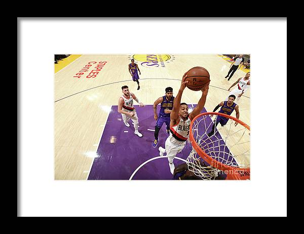 Nba Pro Basketball Framed Print featuring the photograph C.j. Mccollum by Andrew D. Bernstein