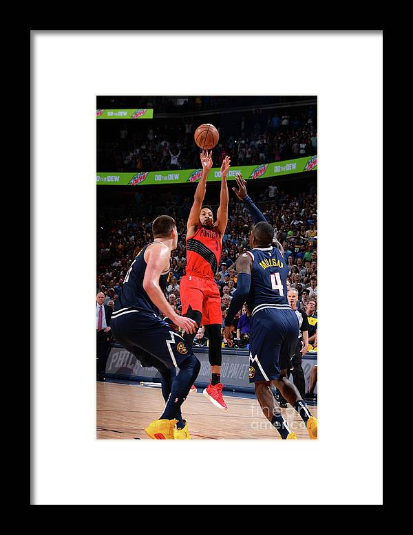 Playoffs Framed Print featuring the photograph C.j. Mccollum by Bart Young