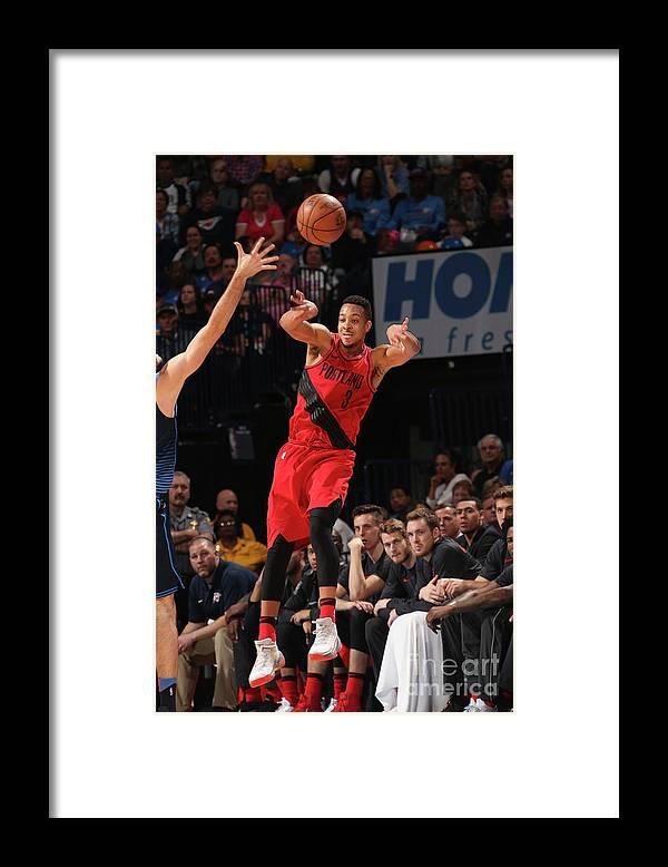 Sports Ball Framed Print featuring the photograph C.j. Mccollum by Layne Murdoch