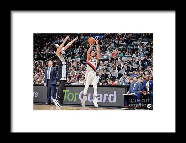 Nba Pro Basketball Framed Print featuring the photograph C.j. Mccollum by Mark Sobhani