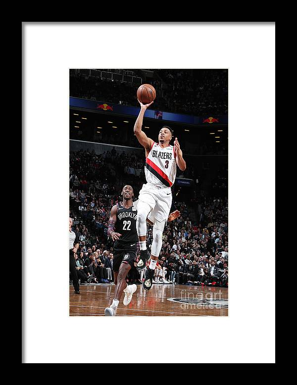 Nba Pro Basketball Framed Print featuring the photograph C.j. Mccollum by Nathaniel S. Butler