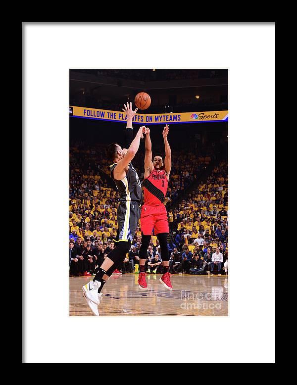 Playoffs Framed Print featuring the photograph C.j. Mccollum by Noah Graham