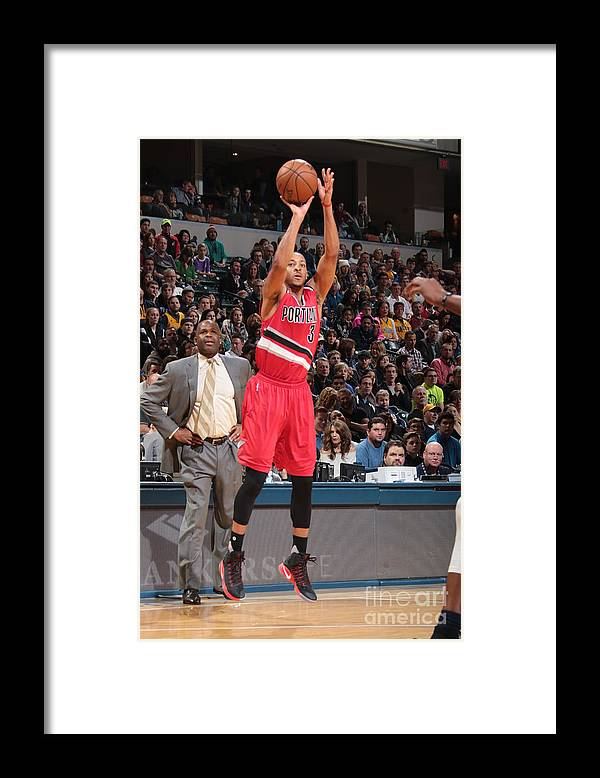 Nba Pro Basketball Framed Print featuring the photograph C.j. Mccollum by Ron Hoskins