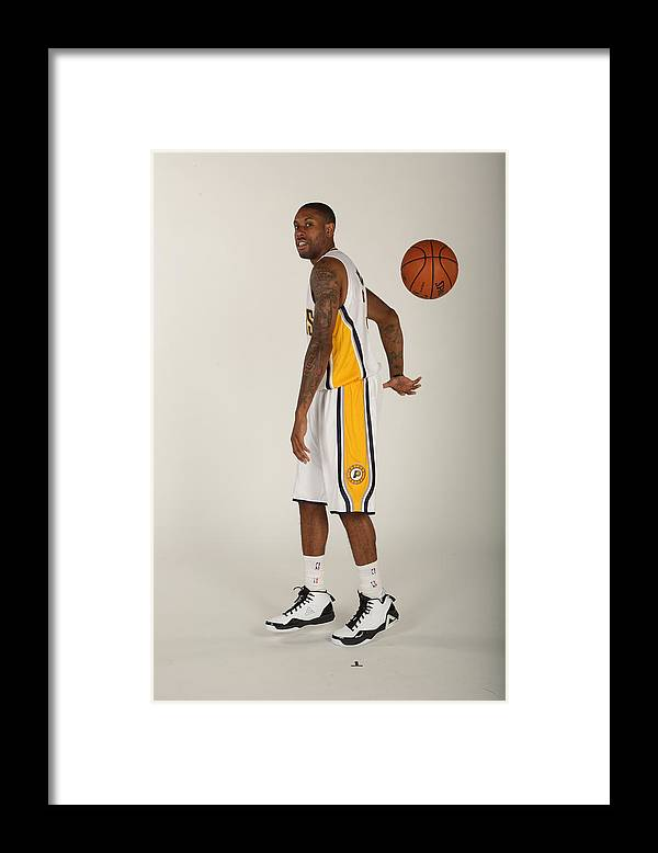 Media Day Framed Print featuring the photograph C.j. Watson by Ron Hoskins