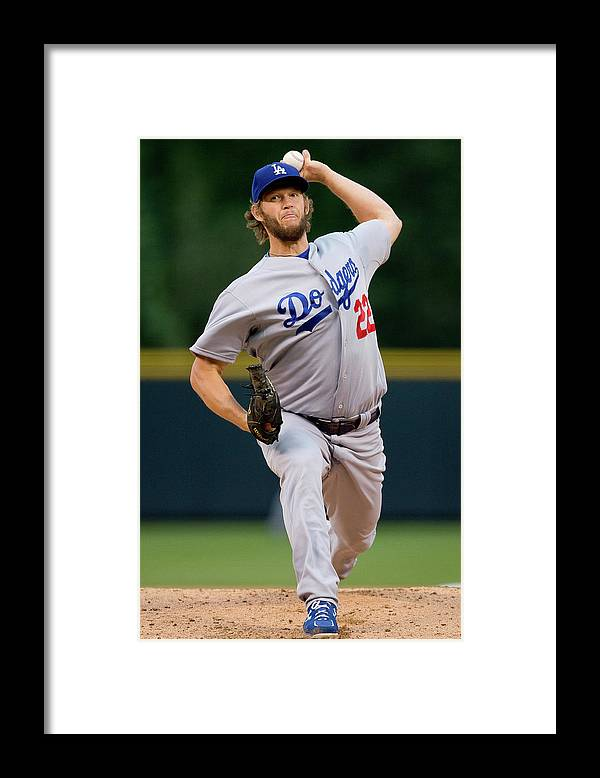 People Framed Print featuring the photograph Clayton Kershaw by Justin Edmonds