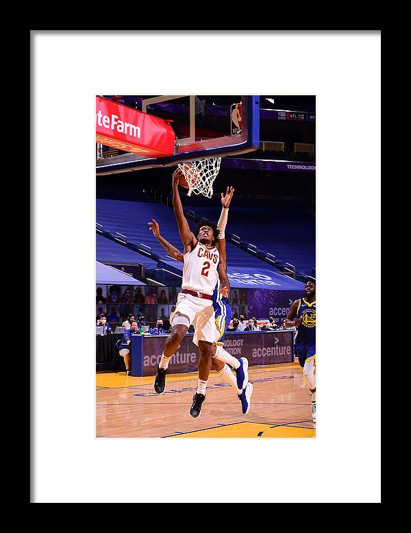 San Francisco Framed Print featuring the photograph Cleveland Cavaliers v Golden State Warriors by Noah Graham