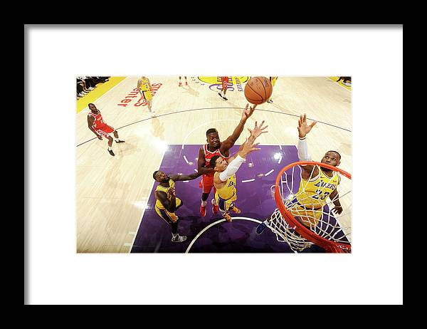 Nba Pro Basketball Framed Print featuring the photograph Clint Capela by Andrew D. Bernstein